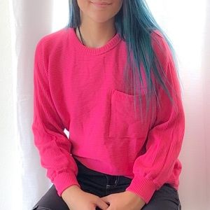 Sweaters - Pink Sweater 💯% 1980's  vintage NWT WOW